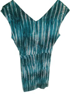 BCBGMAXAZRIA short dress Turquoise/white/black on Tradesy