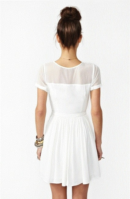 Nasty Gal short dress White Sheer on Tradesy