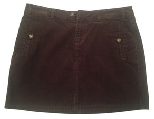 Banana Republic Mini Corduroy Mini Skirt Brown