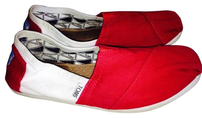 Item - Red and White Campus Edition Color Block Flats Size US 7.5