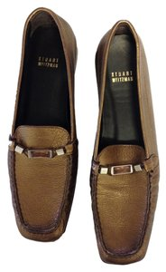 Stuart Weitzman Loafers Leather Loafers Bronze Flats