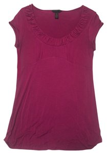 Banana Republic Magenta Short Sleeve Size Xs Top Pink