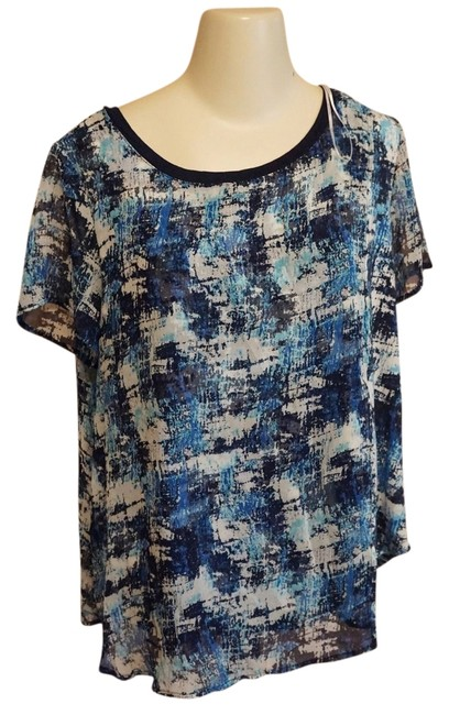 c046f228135 cheap Bellatrix Nwt Brushstroke Faux Wrap Size 1x 18 Tunic ...