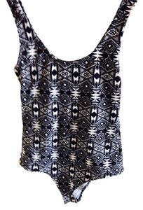 H&M Top Black And White Tribal