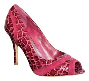 White House   Black Market Crocodile Look Red - Style - MADDOX Pumps