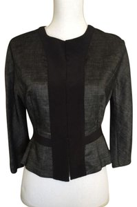 Narciso Rodriguez Linen Peplum Top Black