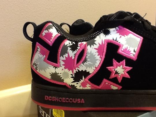 DC Shoes Skater Padded Grip Sole Comfortable Casual Low-top Lace Up Leather Black/Pink Athletic