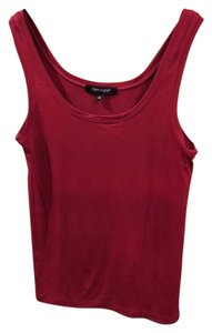 Karen Kane Scoop Neck Sleeveless Shell Top Red