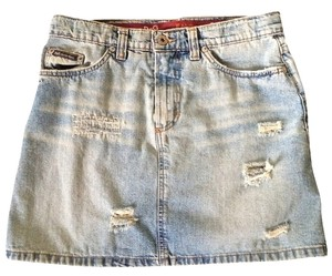 Dolce&Gabbana Mini Mini Skirt Distressed Denim