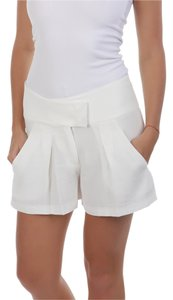See by Chloé Made In Italy Designer Summer Beach Pleated Bermuda Mini/Short Shorts White
