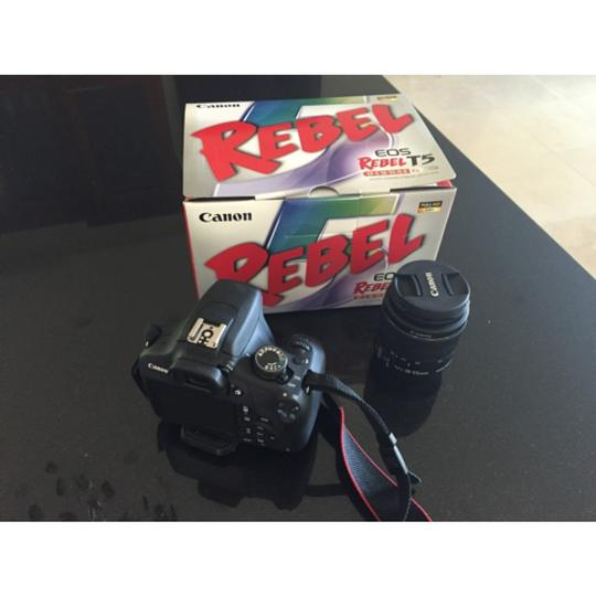 Canon EOS Rebel T5 DSLR Camera with 18-55mm IS Lens Image 1