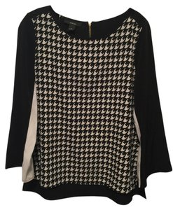 Alfani Silky Boat Neck Top Houndstooth