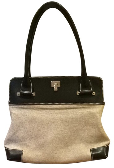 Preload https://item5.tradesy.com/images/lambertson-truex-black-and-off-white-beige-leather-and-linen-shoulder-bag-1258184-0-0.jpg?width=440&height=440