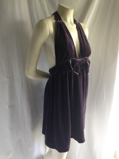 Juicy Couture Velour Halter Babydoll Dress
