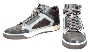 Lanvin Lavin Leather Suede High Top Blue Athletic