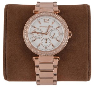 Michael Kors NEW Michael Kors Women's MK5781 Parker Rose Gold Glitz Dial Stainless Watch