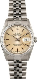 Rolex Rolex Datejust Aged silver Index Dial Stainless Steel Watch 16220