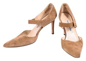 Manolo Blahnik Suede Brown Pumps