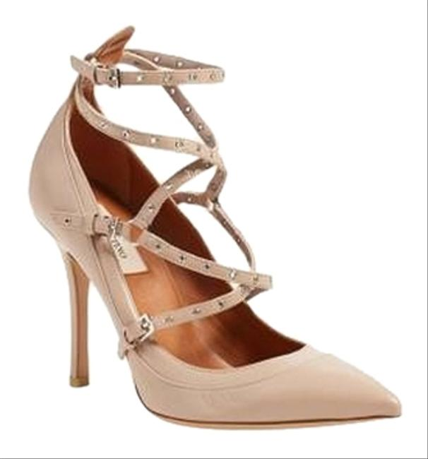 Valentino Nude Latch Strappy Pumps Size US 8 Image 1