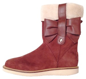 RED Valentino Shearling Ugg Brown Boots