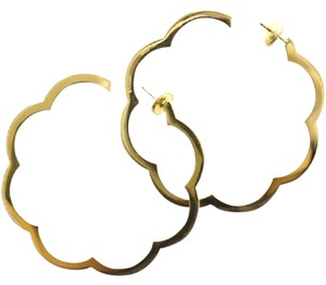 Chanel Hoop CC 18K Yellow Gold Profil de Camelia Profile of Camellia XL Jumbo