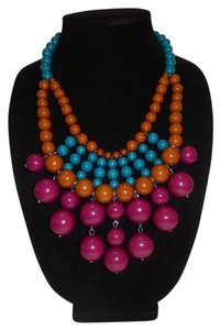Chunky Multi Ball Beads Bubble Necklace