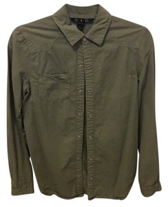 Billabong Button Down Shirt Green