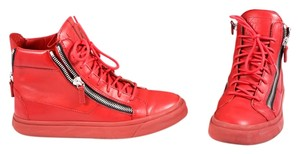 Giuseppe Zanotti Mens Leather Red Athletic