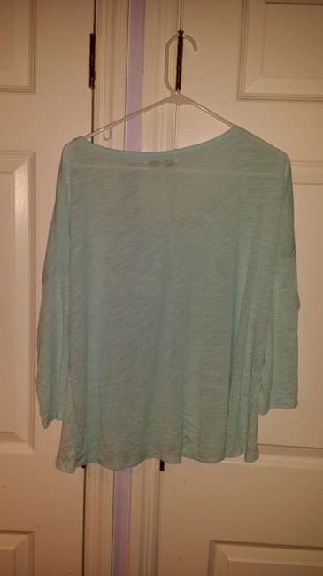 American Eagle Outfitters Cotton Machine Washable Comfortable T Shirt Light Blue