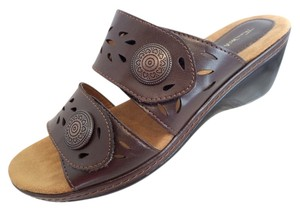Thom McAn 10 Leather Brown Sandals