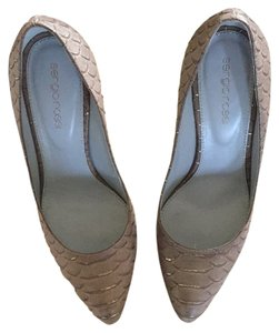 Sergio Rossi Nude Brown Pumps