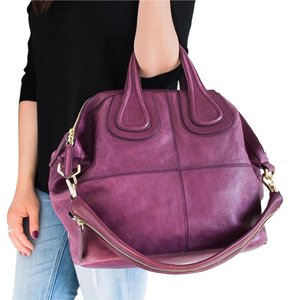 Givenchy Leather Medium Elegant Satchel in Purple
