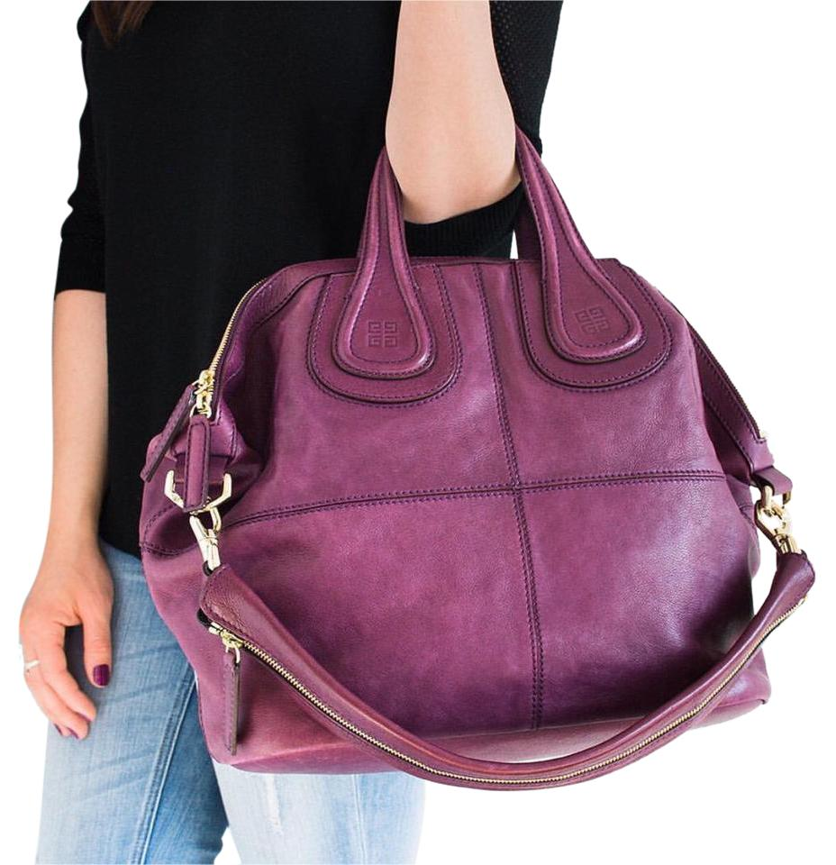 bcaa3bb7b2 Givenchy Nightingale Purple Leather Satchel - Tradesy
