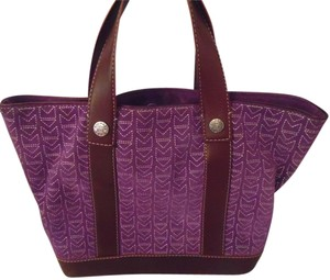 6a3ee187e Michael Kors Vintage Suede Mk Tote in Purple with Paisley Pattern