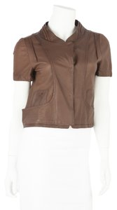 Marni Brown Leather Jacket