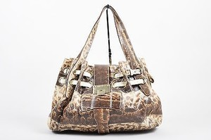 Jimmy Choo Ramona Snakeskin Beige Shoulder Bag