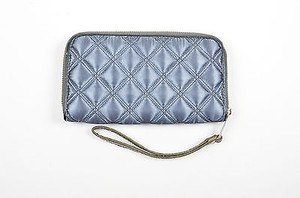 Marc by Marc Jacobs Marc By Marc Jacobs Gunmetal Quilted Nylon Leather Zip Up Wristlet Wallet
