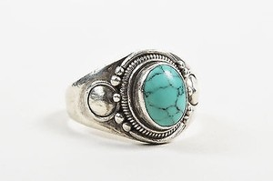 Sterling Silver Turquoise Southwestern Ring