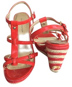 Tommy Hilfiger Red, white Wedges