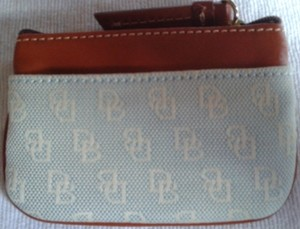 Dooney & Bourke Dooney Lite Blue Signature Coin Case WU60B LB 133762491 **FREE SHIPPING!