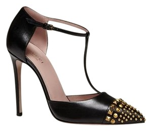 Gucci Studded Leather Black Pumps
