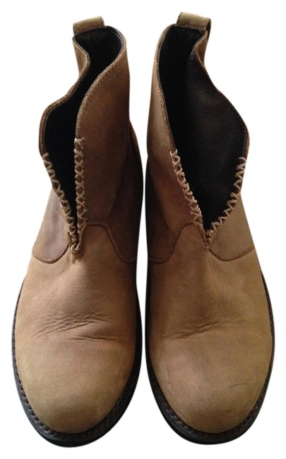 Item - Tan With Woven Detail Boots/Booties Size US 7 Wide (C, D)