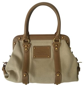 Louis Vuitton Trianon Limited Edition Rare Satchel in Taupe
