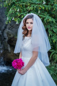Zveil Two Tier Simple Classic Tulle Veil