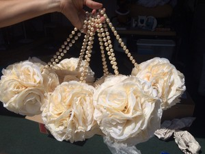 Ivory Flower Balls With Pearls And Diamonds