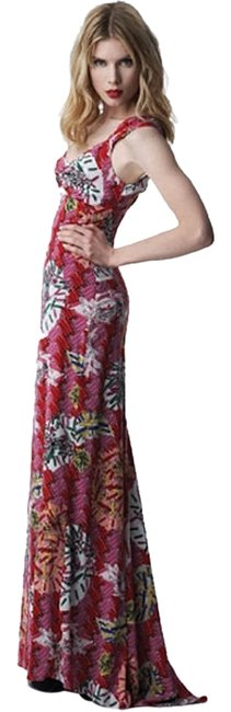 Item - Pink Red Safety Pin Print Long Casual Maxi Dress Size 0 (XS)
