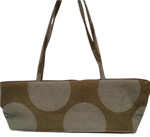 Maruca Fabric Polka Dot Satchel in green and light blue