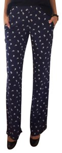 Theory Relaxed Pants Navy, White