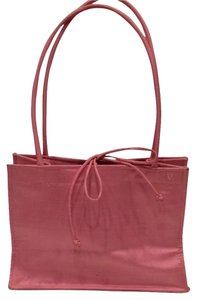 Satin Purse Satchel in pink