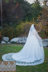 Zveil Sparkly Lace Cathedral Veil